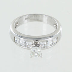 LADIES 18KT SOLITAIRE DIAMOND RING SIZE 6