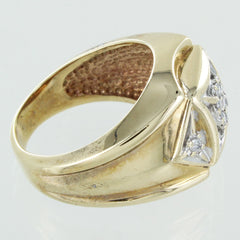 MENS 10KT COCKTAIL DIAMOND RING SIZE 6
