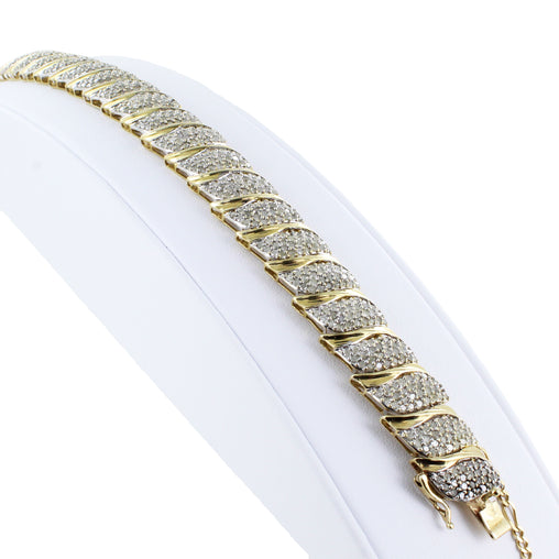 10KT GOLD DIAMOND BRACELET