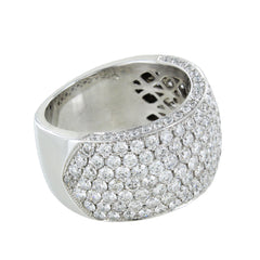 LADIES 14KT CLUSTER DIAMOND RING
