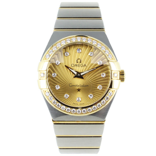 OMEGA CONSTELLATION 18K GOLD WATCH 27MM