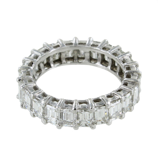 LADIES PLATINUM DIAMONDS WEDDING BAND