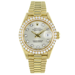 ROLEX OYSTER PERPETUAL DATEJUST 69138 18KT  GOLD WATCH