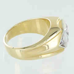 MENS 14KT COCKTAIL DIAMOND RING SIZE 10