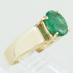 LADIES 14KT EMERALD RING SIZE 7