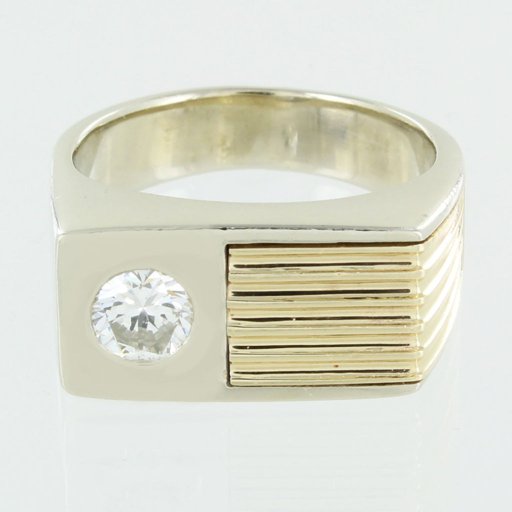 GENTS 14KT GOLD COCKTAIL DIAMOND RING SIZE 8.5