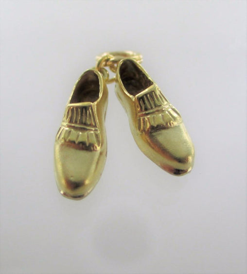 18KT SOLID YELLOW GOLD GOLF SHOES SPORT CLEATS SHOES