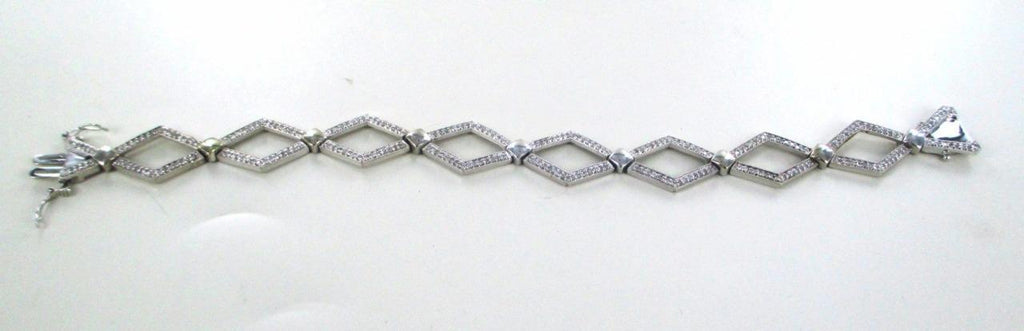 14KT SOLID WHITE GOLD 248 MARQUISE DIAMOND BRACELET CLARITY CONFIDENCE PURPOSE