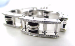 18KT SOLID WHITE GOLD 294 DIAMONDS 8' BRACELET CLARITY CONFIDENCE PURPOSE