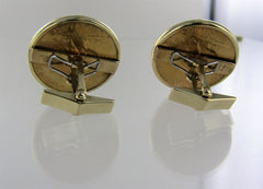 $10 INDIAN HEAD GOLD COIN CUFF LINKS 1910D 1910S EXCELLENT CONDITION 002329604