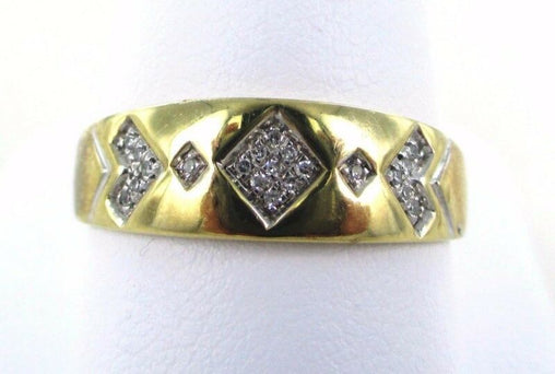 10KT SOLID YELLOW GOLD 21 DIAMONDS WEDDING BAND SZ 11 RING (990048107)