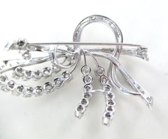 016147802 18K WHITE GOLD 58 DIAMONDS 1.75 CARAT 13 GRAMS FINE JEWELRY PIN BROOCH