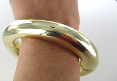 015232301 14KT YELLOW GOLD BRACELET ITALIAN DESIGNER BANGLE  51.3 GRAM HOLLOW