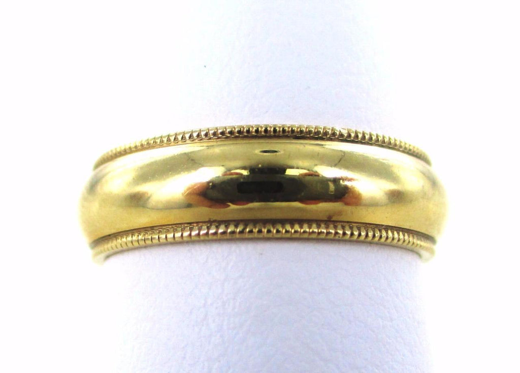 14KT SOLID YELLOW GOLD SIZE 6 WEDDING BAND RING 015029110