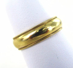 14KT SOLID YELLOW GOLD SIZE 6 WEDDING BAND RING