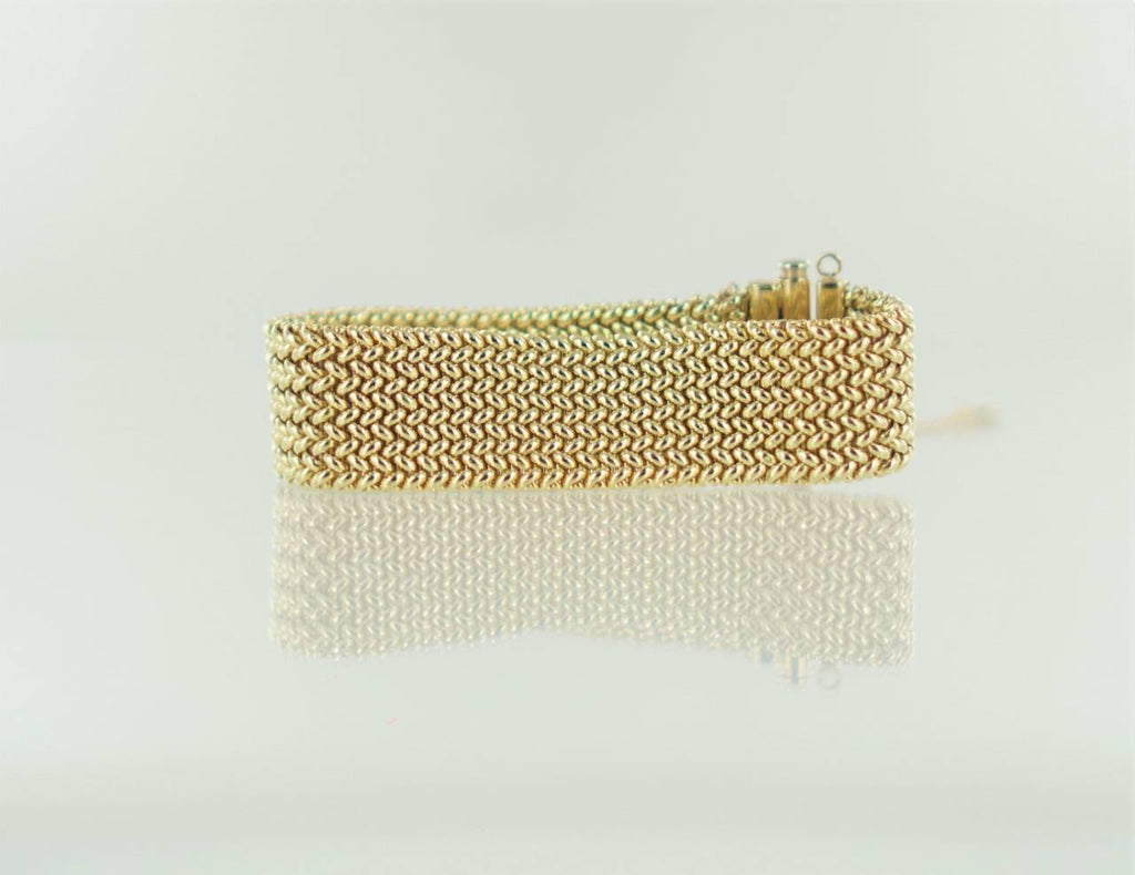 "14KT YELLOW GOLD MESH ITALY WIDE BRACELET  6 1/4"" 015726301"