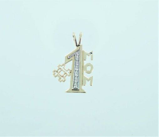 14KT YELLOW GOLD DIAMOND #1 MOM .14 ATW PENDANT (16361006)