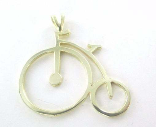 14K YELLOW GOLD PENDANT BICYCLE HALLMARK 2.1 GRAMS (16302840)