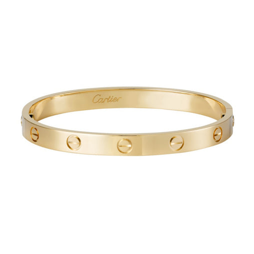 CARTIER 18KT YELLOW GOLD LOVE BRACELET SIZE 17 W BOX