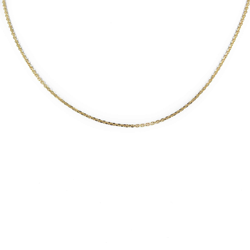 "LINK CHAIN 14K YELLOW GOLD 18"" LENGTH"