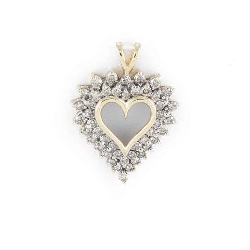 DIAMOND HEART PENDANT 10K 2 TONE