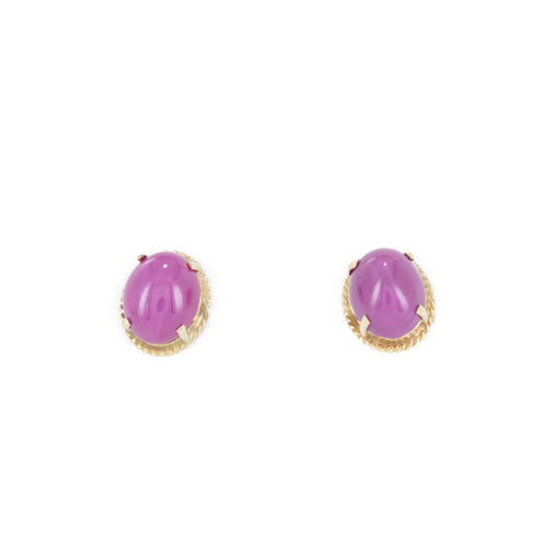 LINDE RUBY STUD EARRINGS 14K YELLOW GOLD