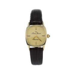 LUCIEN PICCARD GOLD & LEATHER VINTAGE WATCH