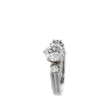 DIAMOND SOLITAIRE RING 18K WHITE GOLD SIZE 6
