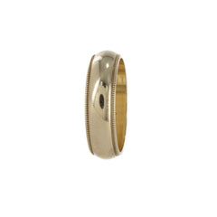 MENS WEDDING BAND 14KT YELLOW GOLD SIZE 10