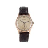 BENRUS GOLD LEATHER VINTAGE WATCH