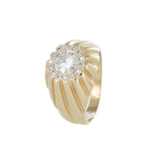 DIAMOND CLUSTER RING 14K YELLOW GOLD SIZE 10