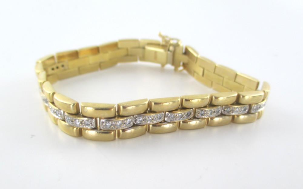 013914505 14KT YELLOW GOLD BRACELET 36 DIAMONDS .50 CARAT MADE ITALY 27.5 GRAMS