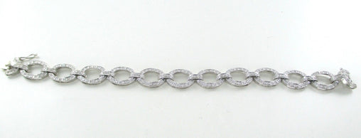 14KT WHITE GOLD BRACELET 226 DIAMONDS 1.25 CARAT BANGLE FINE JEWELRY NO SCRAP