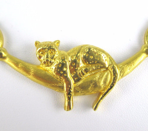 24K YELLOW GOLD BIZMARK PANTHER NECKLACE 16262302