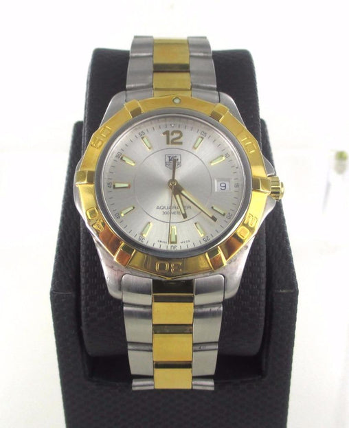 016228101 MEN'S TAG HEUER WAF1120 STAINLESS STEEL WATER RESISTANT WRIST WATCH