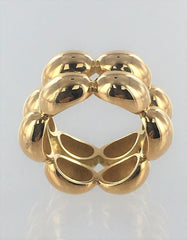 CHAUMET 18KT GOLD  DOUBLE ROW MADE IN PARIS RING SIZE 6 - #013095113
