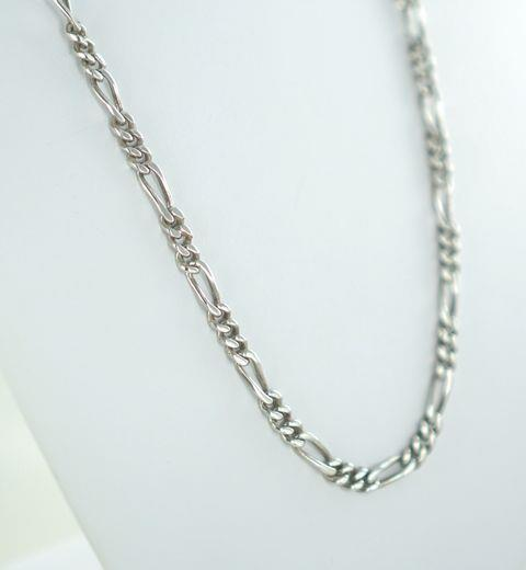 "STERLING SILVER FIGARO CHAIN 24"" 42.6 GRAMS 450105971"