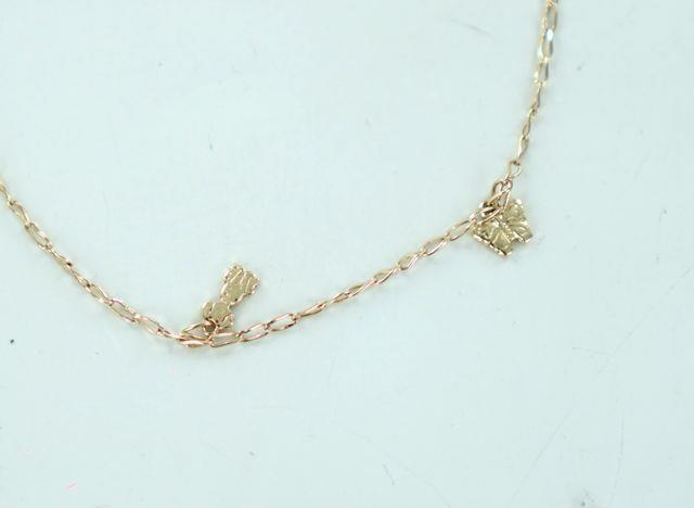 "14KT YELLOW GOLD ANKLET WITH ANIMAL CHARMS 10"" 016400701"