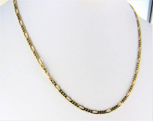 "14KT YELLOW GOLD FIGARO NECK CHAIN 18"" 990056882"