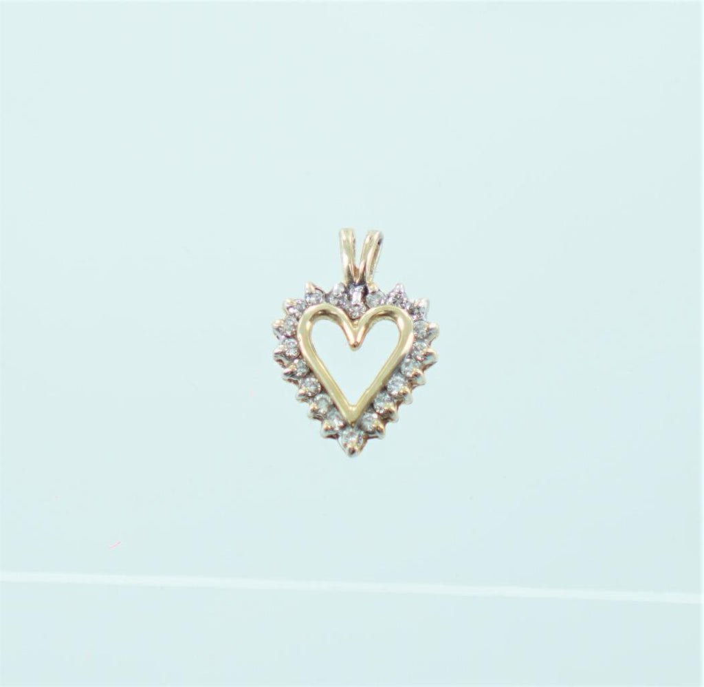 10KT YELLOW GOLD DIAMOND HEART PENDANT .25 ATW 015365503
