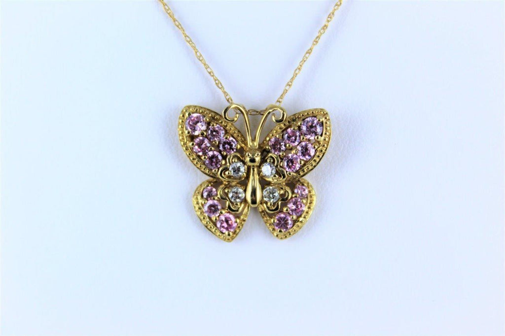 10 KT GOLD NECK CHAIN BUTTERFLY (15943122)