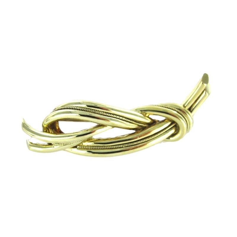 TIFFANY & CO. 18K GOLD PIN BROOCH KNOT MADE IN ITALY 19.5oz VINTAGE C (12859001)