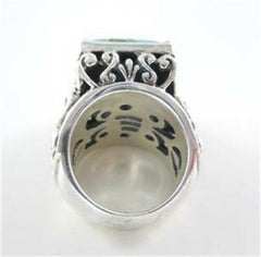 BARSE DESIGNER SILVER ESTATE TURQUOISE RING BAND SZ 6 (16352606)
