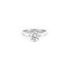 SOLITAIRE DIAMOND RING 14K WHITE GOLD .63CT SIZE 5.5