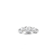 DIAMOND RING .50CT 14K WHITE GOLD SIZE 5.5