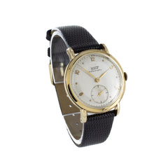 TISSOT VISODATE GOLD & LEATHER VINTAGE WATCH