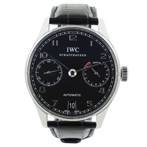 IWC PORTUGUESE CHRONO 7 DAY POWER RESERVE WATCH IW500109