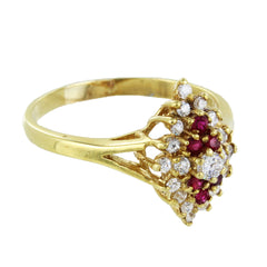 18KT GOLD COLORED STONES RING