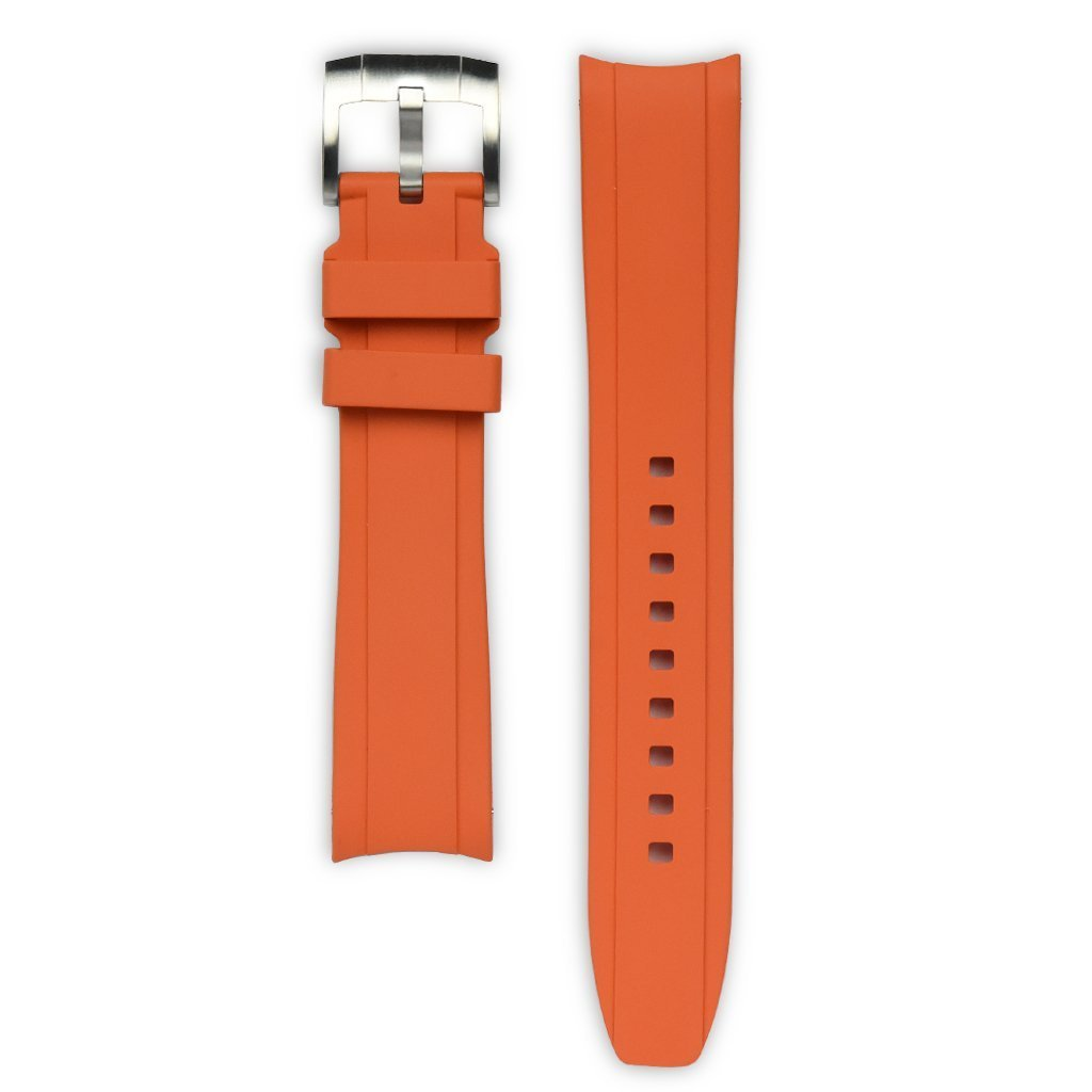 Everest Orange Rubber Strap For Rolex Watch EH5