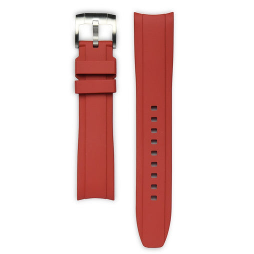 Everest Red Rubber Strap For Rolex Watch EH5